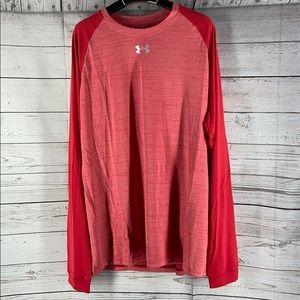 COPY - Under Armour red heatgear long sleeve shirt